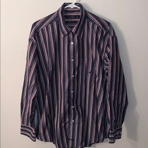 Men's Nautica dress shirt striped size L